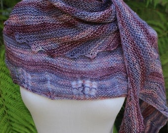 Pattern Only Neapolitan Asymmetrical Shawlette or Scarf