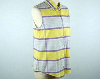 Women's Sleeveless Plaid Shirt by Rough Stock