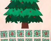 Christmas Tree Advent Calendar Countdown - Snowman Pockets