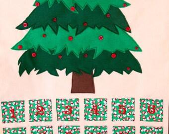 Fabric Tree Christmas Advent Calendar- Snowman fabric