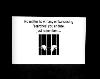 Prison Greeting Card, Convict Card, Prison Humor Card, Humorous Card, Jail Card, Incarceration Card, Card For Inmate, Funny Prison Card