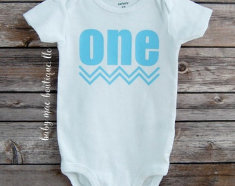 Baby Boy First Birthday; One Bodysuit, Boy Birthday Shirt, Baby's First birthday
