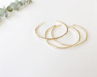 Hammered Brass Stacking Cuff   Minimalist Bracelet   Simple Everyday Jewelry