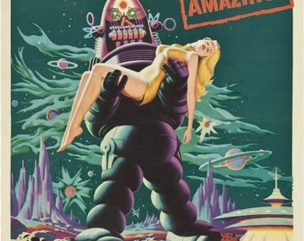 The Forbidden Planet, Sci-Fi Movie Poster, Archival Quality Print