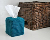 Modern Square Tissue Box Cover Nursery Decoration Home Decor Teal Kleenex Box Cover
