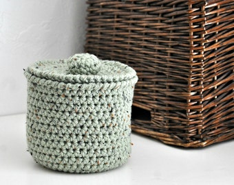 Rustic Green Small Basket Bathroom Decoration Spare Roll Holder Rustic Home Decor Custom Colors