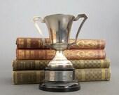 Vintage Sporting Trophy  - 1961 Silver Plate Trophy - Silver Plated Vintage Trophy - Loving Cup from England