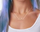 Breathe Necklace - Inspirational Jewelry - Yoga Necklace - Positive Affirmation Gift