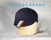 Cycling Cap // Navy with Stripe