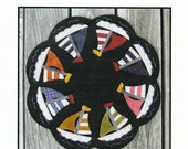 Wool Applique Table Mat, Sail Away Candle Mat, Plays With Wool Designs, PATTERN ONLY