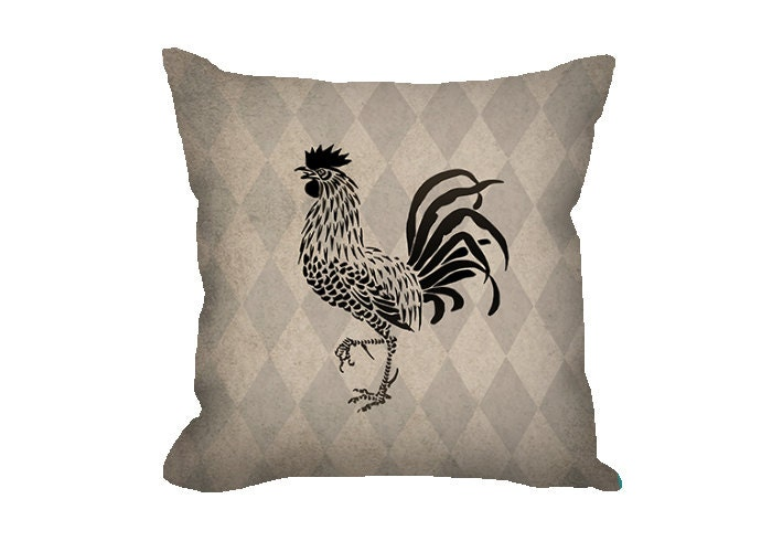 Decorative Pillows With Chickens : Farmhouse decor Rooster pillow throw pillow by FischerFineArts