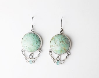 Heavenly Turquoise Sterling Silver Earrings