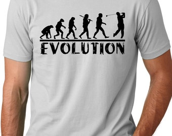 Golf Evolution funny T shirt golfer Humor Tee