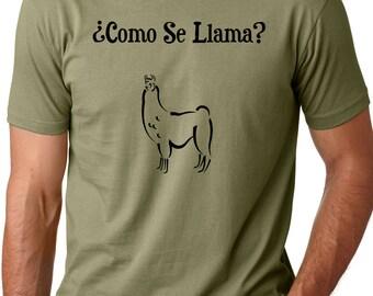 Como se llama funny T shirt screenprinted spanish Humor Tee