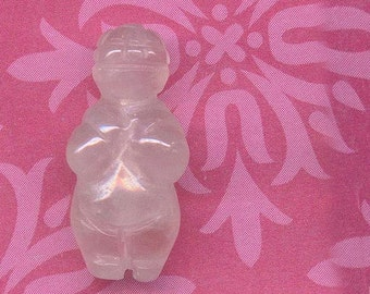 Rose Quartz Venus of Willendorf GODDESS Gemstone Bead - GB-Rq