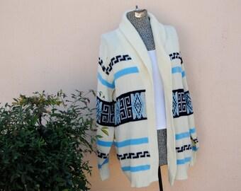 Vintage Southwest Style Tribal Cardigan Jacket