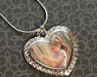 Custom Photo Jewelry Pendant Necklace Twinkle Heart