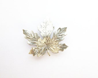 Maple Leaf Barrette Silver Bridal Hair Clip Bride Bridesmaid Nature Inspired Botanical Garden Rustic Woodland Weddings Womens Gift For Her
