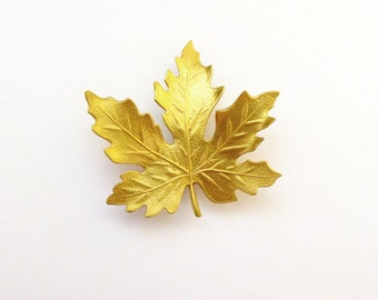 Gold Maple Leaf Hair Clip Bridal Barrette Bride Bridesmaid Nature Forest Autumn Fall Rustic Woodland Wedding Accessories Womens Gift For Her