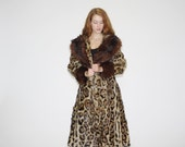 1940s Vintage Jaguar Print Fur Coat   - Vintage 40s Fur Coats  - Vintage 1940s Fur Coat   - WO0519