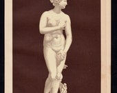 1893 Antique VENUS lithograph, Venus by Medici, Hellenistic marble sculpture depicting the Greek goddess of love Aphrodite