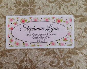 Roses Address Label