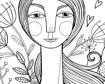 Beauty Is Everywhere: Lovely, Floral, Encouraging Coloring Page Download