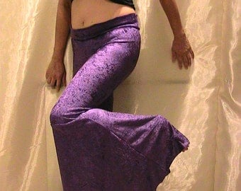 Purple Velvet Flare Pants hippie pants, Belly Dance pants, Flamenco and Festivals