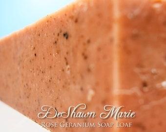 SOAP - 3 lb. Rose Geranium Handmade Soap Loaf, Wholesale Soap Loaves, Vegan Soap, Cold Processed Soap, Natural Soap