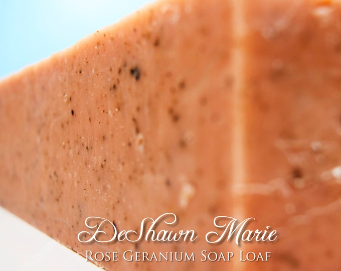 SOAP - 3 lb. Rose Geranium Handmade Soap Loaf, Wholesale Soap Loaves, Vegan Soap, Cold Processed Soap, Natural Soap