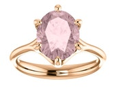 Pink Morganite Rose Gold Engagement Six Prongs Certified Stone