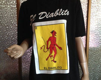 Large Black El Diablito T Shirt