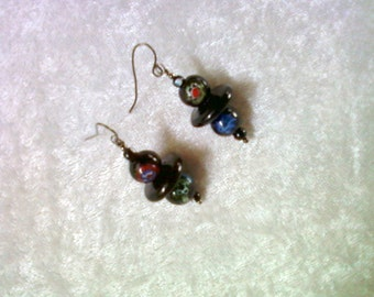 Black Millifiori Earrings (1134)
