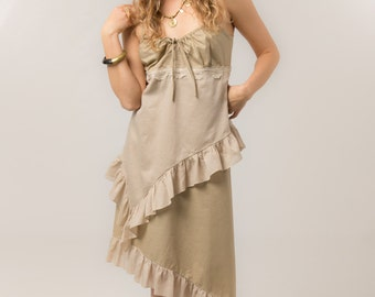 Gypsy Dress - Bohemian summer dress - linen dress -  Women's clothing