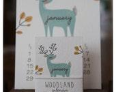 2017 Woodland Mini Calendar