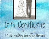 Gift Certificate for Custom Wedding Gown Portrait