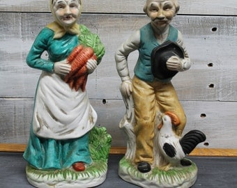 The Marquise Collection, Old Farmer and Wife Figurines