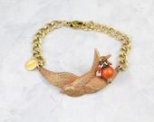 Bird Charm Bracelet - Swallow Bracelet - Sparrow Jewelry - Bird Bracelet - Bird Jewelry - Nature Jewelry - Bird Gift - Totem Jewelry -B11