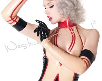 Rubber Latex Fifi Von Frolic Opera Gloves - Westward Bound R1499 MADE/DESIGNED UK