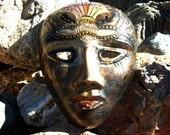 Cloisonne Brass Mask Wall Art Decor Decorative Gift Ideas