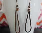 Thalia - Solid Brass Drop Earrings
