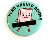 Banned Books Pinback Buttons Cute Nerdy Accessories Librarian Literature Badges