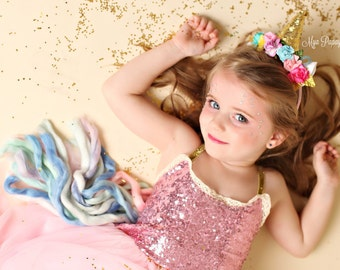 Unicorn Sequin Tutu Dress Magical Costume Set  4T/5T Birthday, Halloween, Dress Up