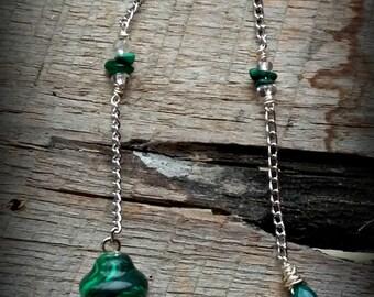 Malachite & Jade Pendulum