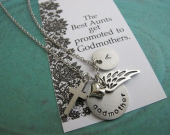 Godmother Necklace - Godmother Gift - Personalized Godmother Jewelry - Baptism Gift - Christening Gift