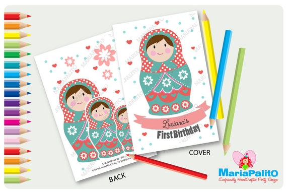 6 Matryoshka Coloring Book, Nesting Dolls coloring Books ...