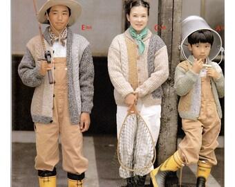 Kids Knitting Pattern with Size Variation, Japanese Craft Book, Vest Pattern, Sweater Pattern, Cardigan Pattern