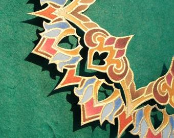 "Mandala ""Regal Emanation"" - Illuminated 3-D Paper Sculpture Original Artwork"