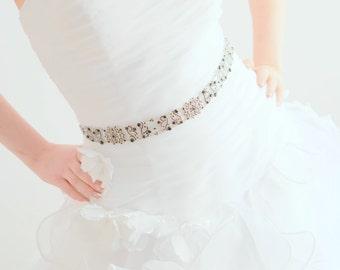 Black Sash - Black Belt - Bridal Sash - Bridal Belt - Crystal Sash - Crystal Belt - Prom Sash - Prom Belt - Wedding Sash - ANTOINETTE