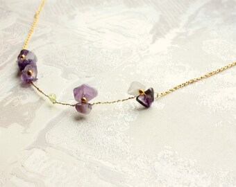 Sweet violet, delicate amethyst necklace